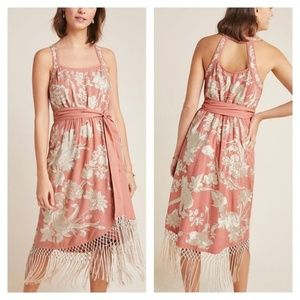 Anthropologie Lucille floral embroidered  dress